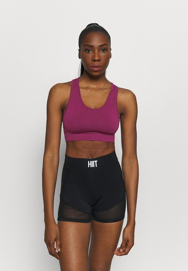 EUPHORIA SEAMLESS CROP - Sport-bh met light support - dark purple