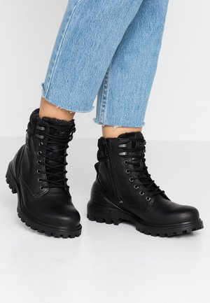 TRED TRAY - Lace-up ankle boots - black