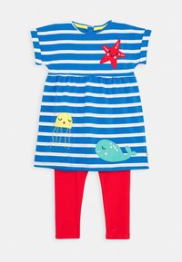 Frugi - OCEAN BABY SET - Leggings - Trousers - motosu blue - 0