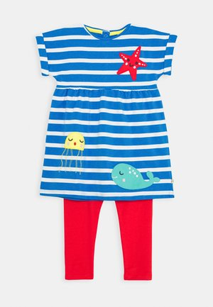 OCEAN BABY SET - Leggings - Trousers - motosu blue