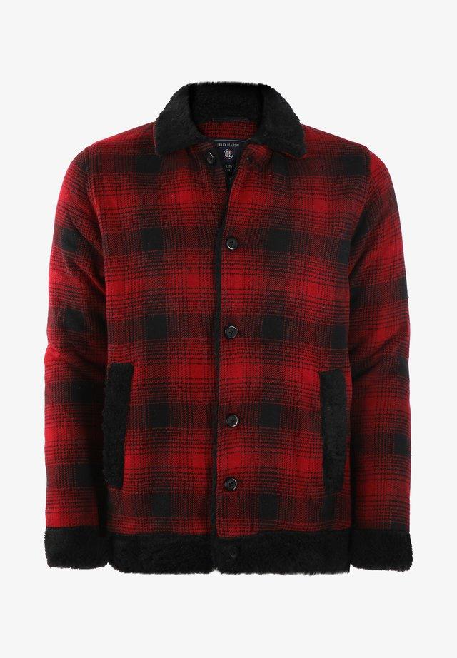 Summer jacket - red-black