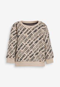 Next - ALL OVER PRINT SLOGAN SET - Sweatshirt - beige - 1