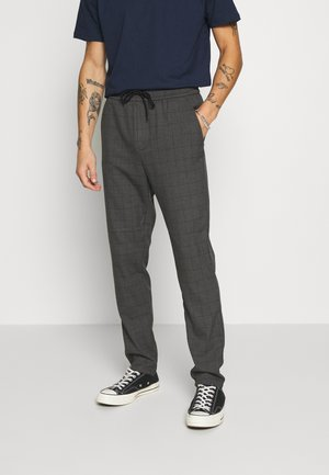ONSLINUS LONG CHECK  - Tygbyxor - medium grey melange