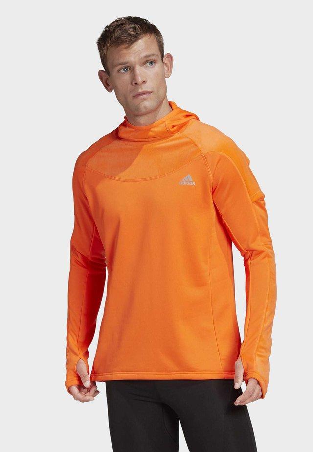 OWN THE RUN WARM HOODIE - Sweatshirt - orange