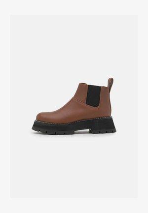 KATE SHORT LUG SOLE COMBAT  - Ankle boots - saddle