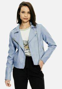 Garcia - Faux leather jacket - powder blue - 0