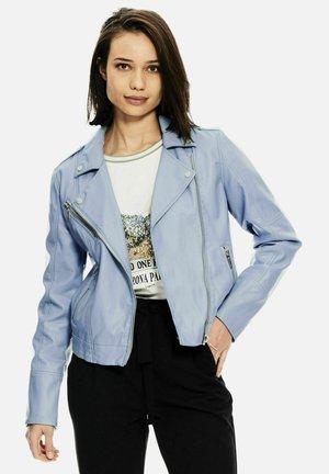 Faux leather jacket - powder blue