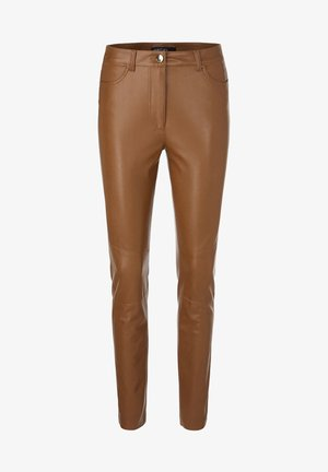 Leather trousers - camel