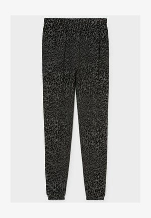 Trousers - black / white