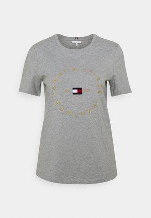 REGULAR CIRCLE TEE - Printtipaita - light grey heather