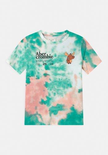 Print T-shirt - green/pink