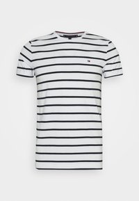 SLIM FIT TEE - Camiseta estampada - white