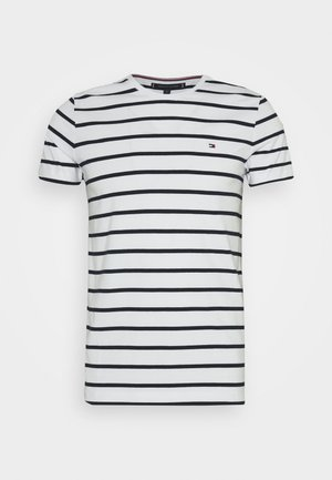 SLIM FIT TEE - T-shirt print - white