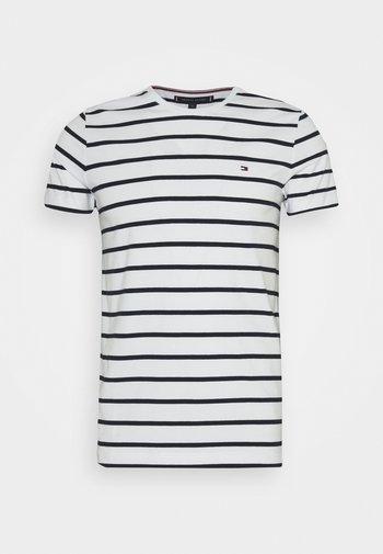 STRETCH SLIM FIT TEE - T-shirt basic - white