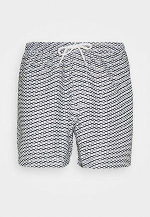 ZANDAR - Shorts da mare - black/white