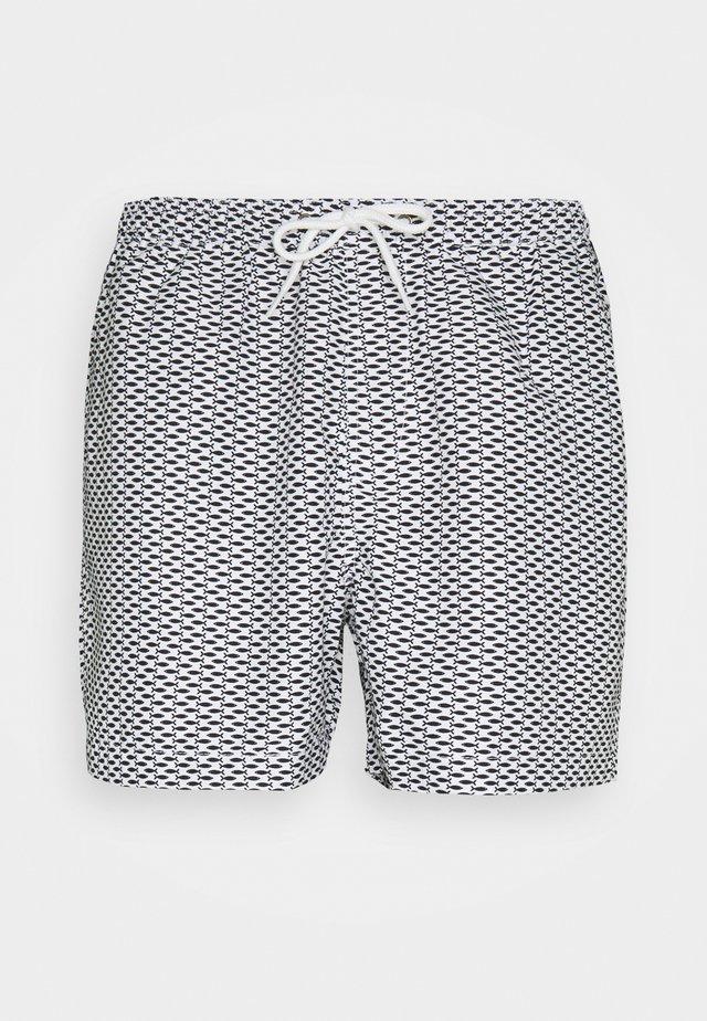 ZANDAR - Szorty kąpielowe - black/white