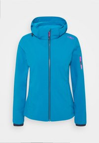 CMP - WOMAN JACKET ZIP HOOD - Soft shell jacket - zaffiro/danubio - 5