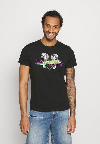 T-DIEGOS-E35 UNISEX - Print T-shirt - black