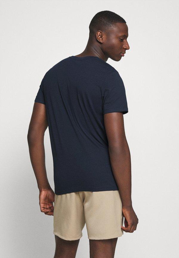 Jack & Jones JORTANNER TEE CREW NECK - T-shirt z nadrukiem - navy blazer/granatowy Odzież Męska KSMP