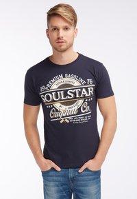 SOULSTAR - Print T-shirt - marine - 0
