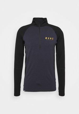 OLYMPUS 3.0 HALF ZIP - Unterhemd/-shirt - black/iron