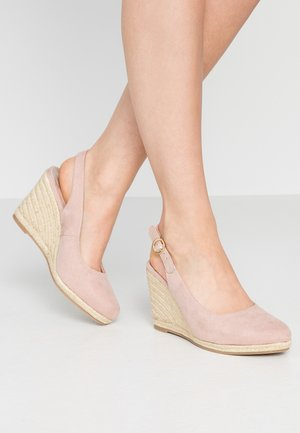 WIDE FIT DRIFTING SLING BACK - Hoge hakken - nude