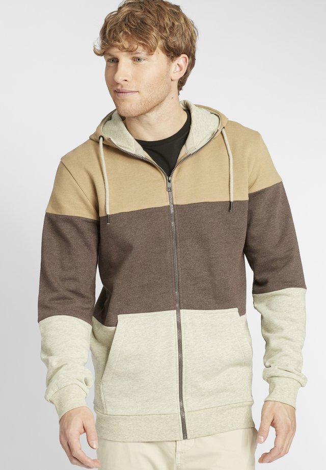 GLORIO - Zip-up hoodie - sand