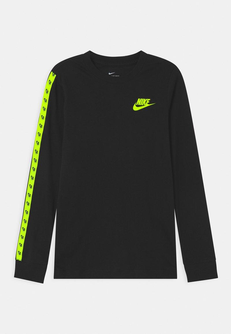 Nike Sportswear - TAPING - Top sdlouhým rukávem - black/volt