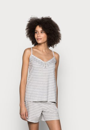 CAMI STRIPE  SET - Pyjama - grey