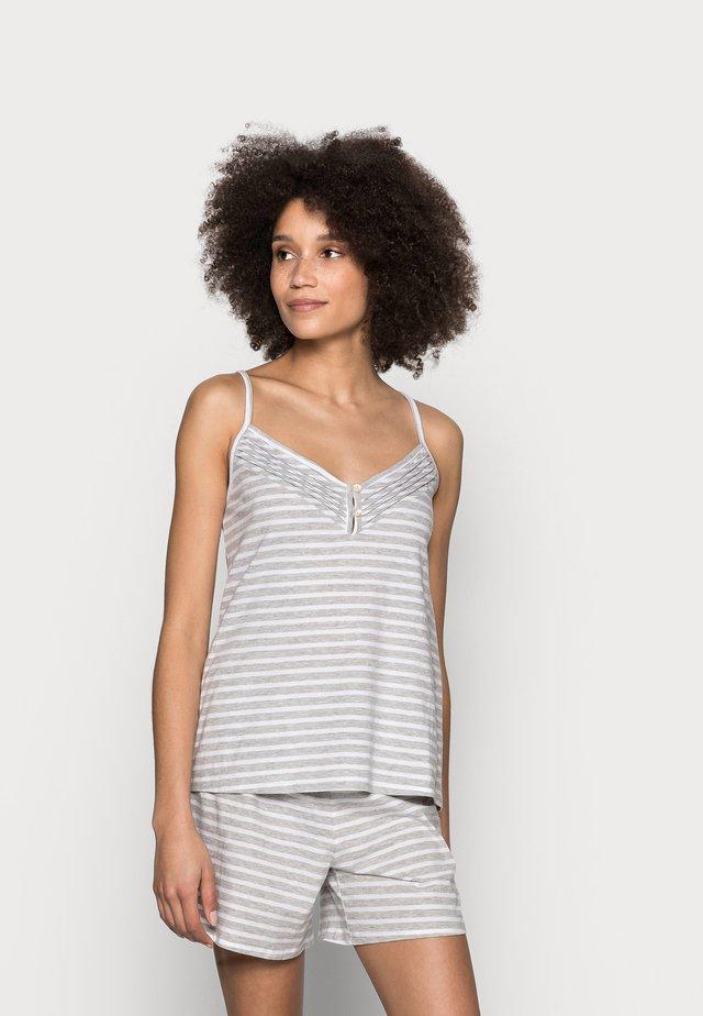 CAMI STRIPE  SET - Pyžamo - grey