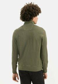 camel active - Zip-up sweatshirt - olive brown - 2