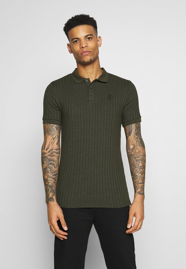 MUSCLE FIT - Koszulka polo - olive