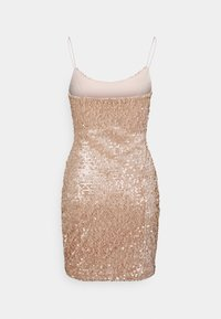 Nly by Nelly - SEQUIN MINI DRESS - Cocktail dress / Party dress - champagne - 1