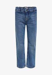Kids ONLY - Straight Fit KONSkyler Frill Wide Ankle - Straight leg jeans - medium blue denim - 0