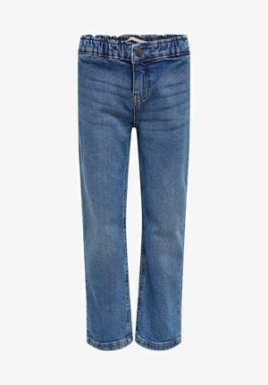 Straight Fit KONSkyler Frill Wide Ankle - Straight leg jeans - medium blue denim