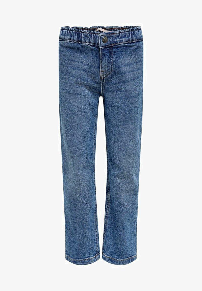 Kids ONLY - Straight Fit KONSkyler Frill Wide Ankle - Straight leg jeans - medium blue denim