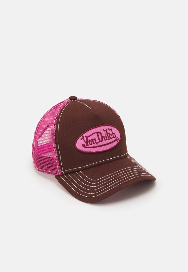 UNISEX - Cap - dark brown/pink