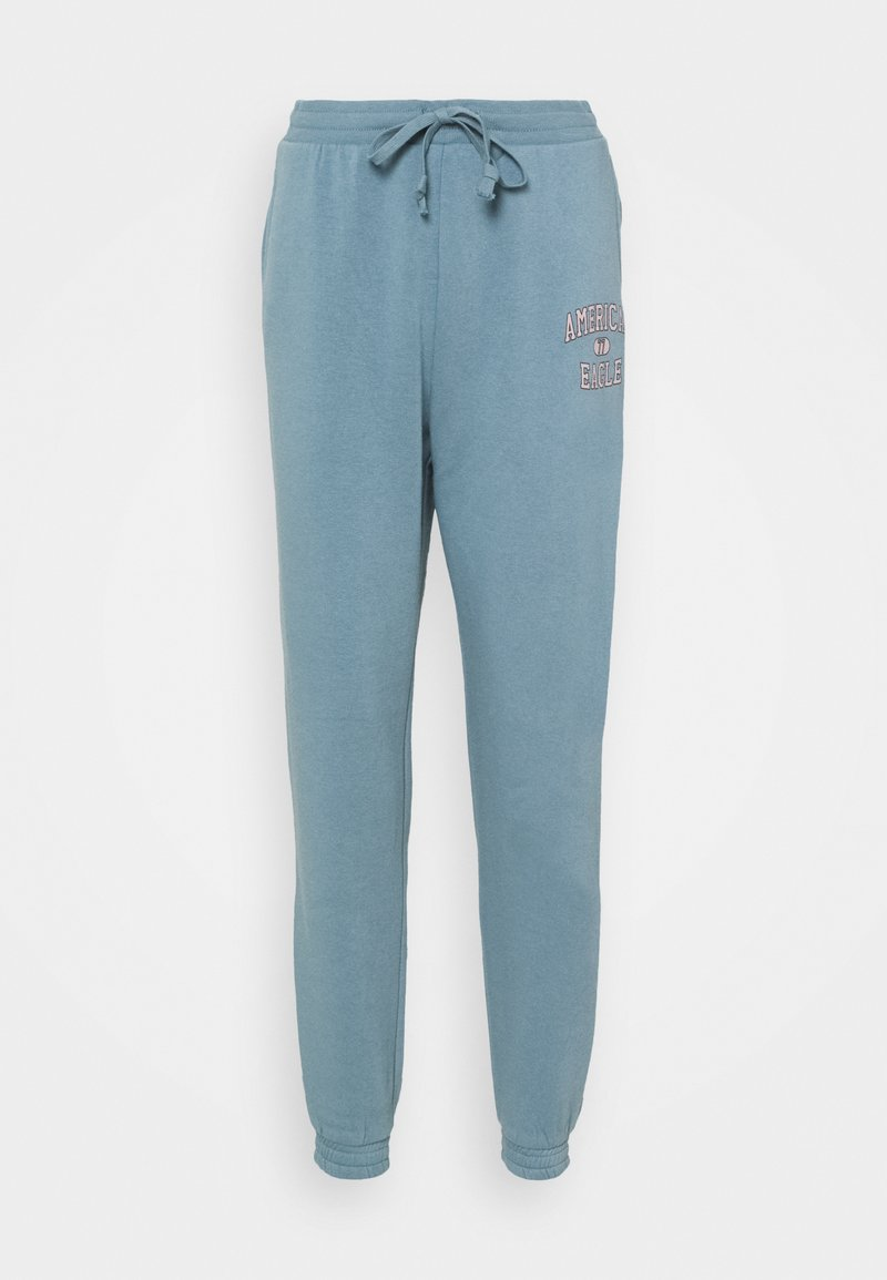 American Eagle - BRANDED PANT - Tracksuit bottoms - blue