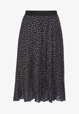 PLISSEEROCK - Pleated skirt - schwarz-weiß-gepunktet