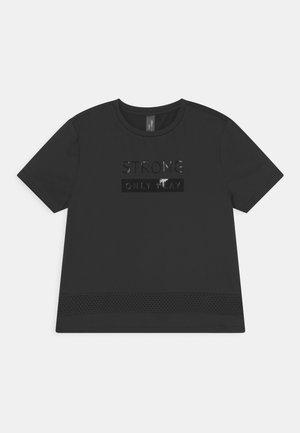 ONPAKINA TRAIN TEE GIRLS - T-shirt med print - black