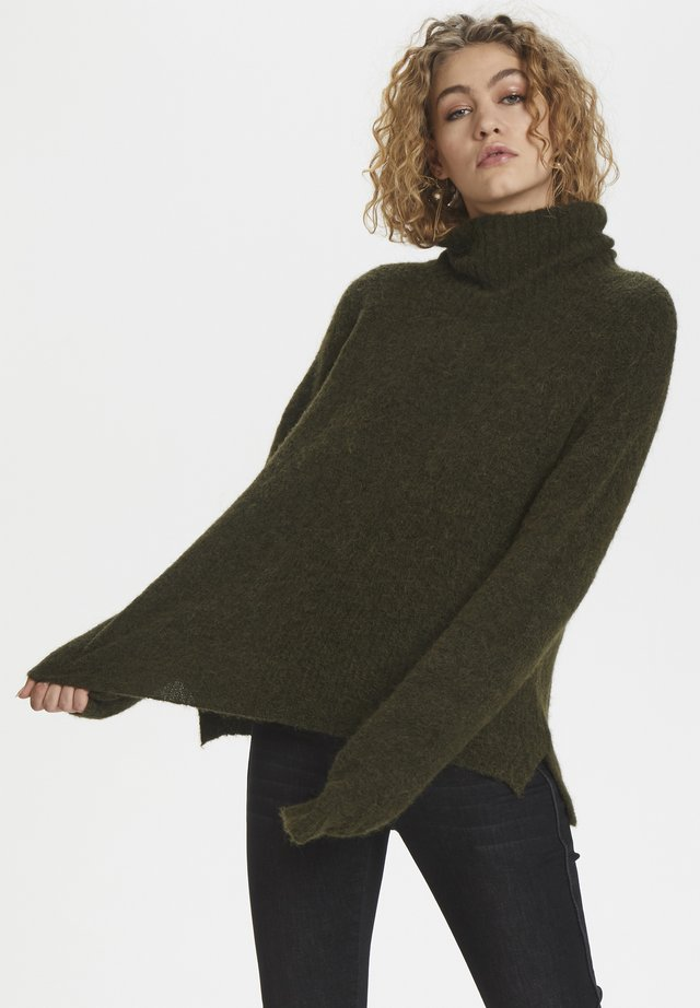 ROLLNECK - Jumper - forest night melange