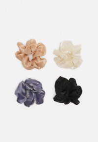 ONLY - ONLALBA SRUNCHIE 4 PACK - Hair Styling Accessory - china blue/black/cream - 0