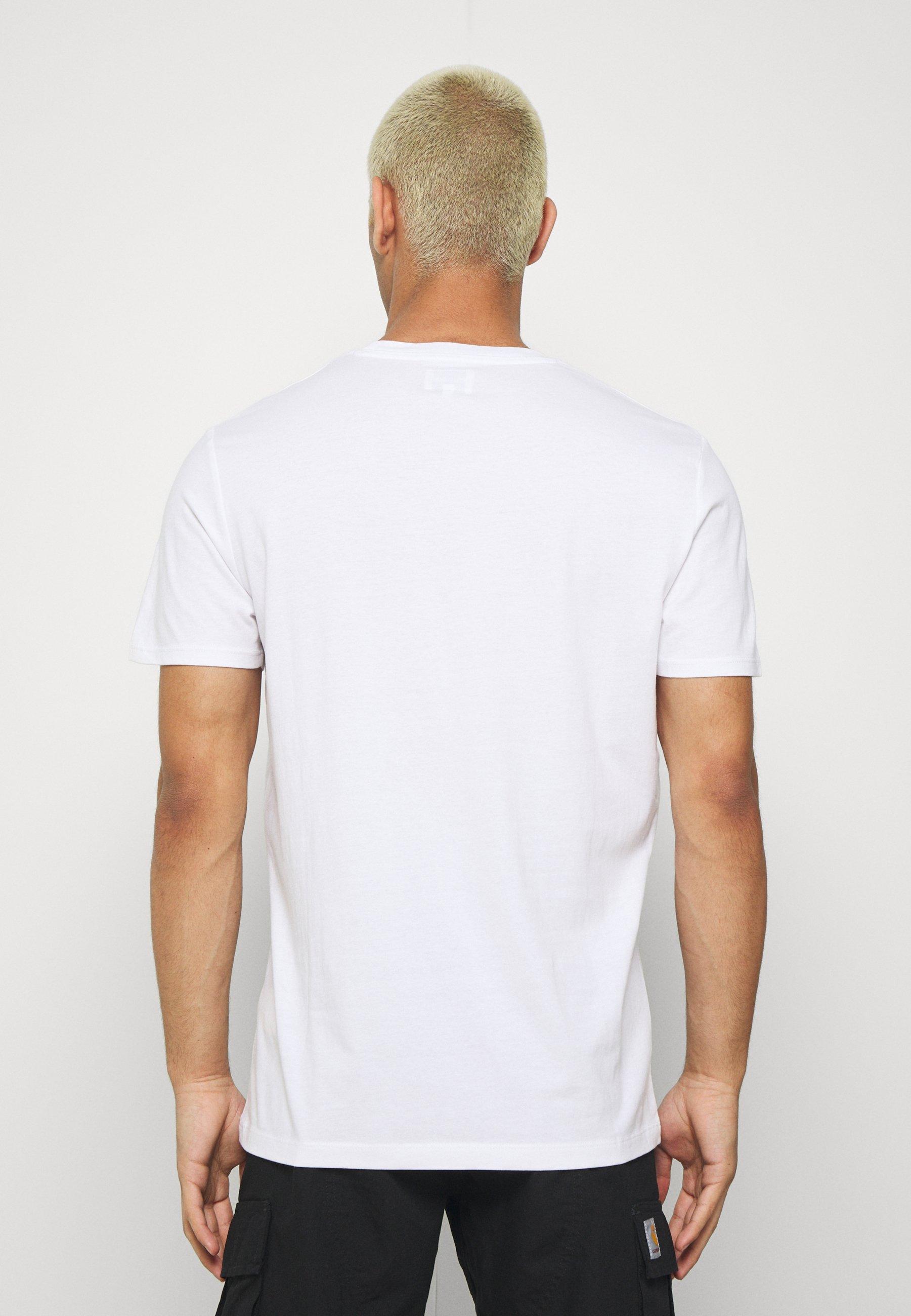 Wrangler LOGO TEE - Print T-shirt - white WMHyh