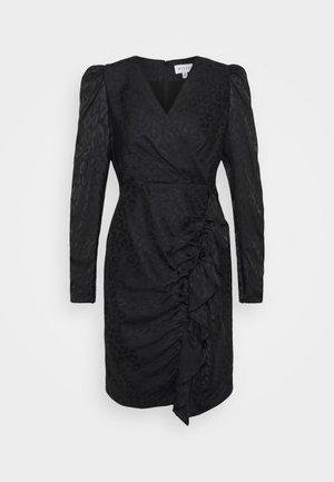 FAWN CHEETAH DRESS - Cocktail dress / Party dress - black