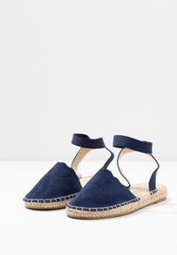 Dorothy Perkins - COURTNEY ELASTIC BACK SCALLOP - Espadrilky - navy - 4