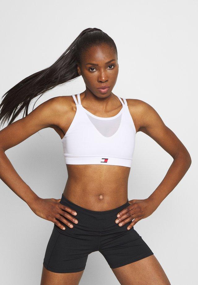 LOW SUPPORT BRA - Sports bra - white