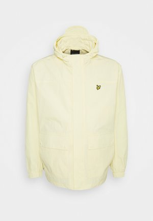 HOODED POCKET JACKET - Summer jacket - lemon