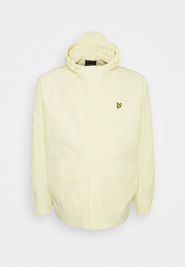 HOODED POCKET JACKET - Summer jacket - lemon