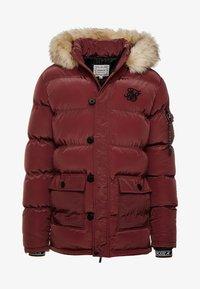 SIKSILK - PUFF - Winter coat - burgundy - 3