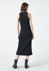 PULL&BEAR - Jumper dress - mottled black - 2